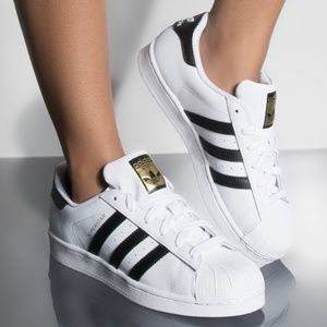 ADIDAS WOMENS SUPERSTAR BLACK & WHITE